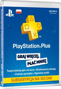 Playstation PLUS 365 dni PS3/PS4